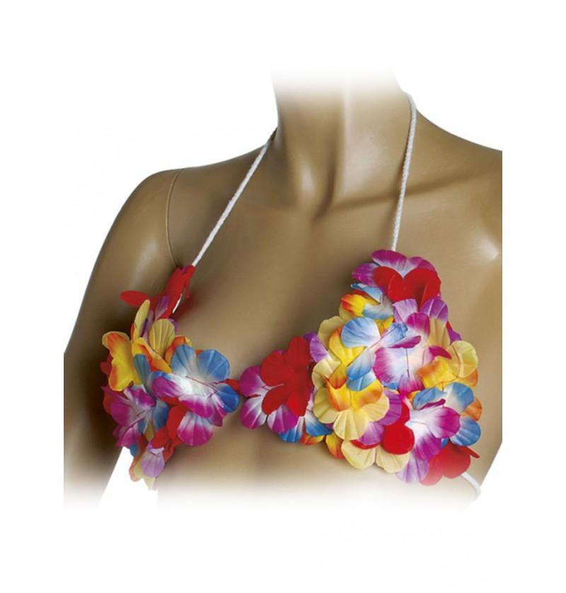 Sujetador hawaiano de flores