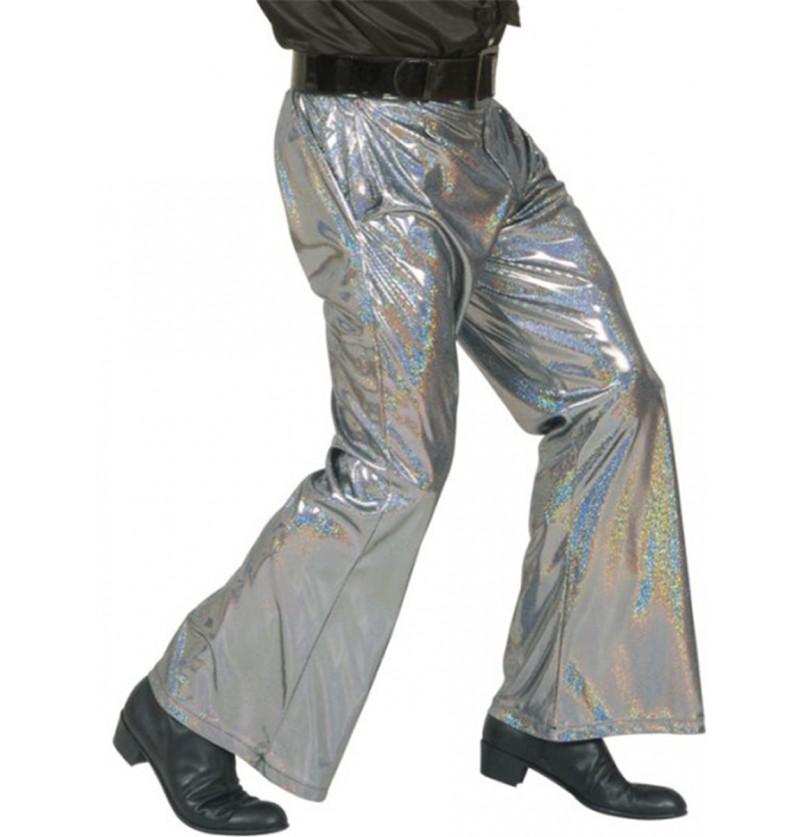 Pantalón disco plateado