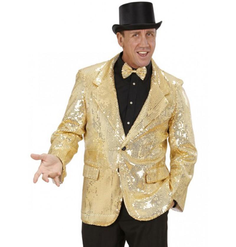 Chaqueta dorada de lentejuelas Deluxe para hombre