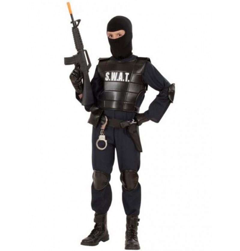 Disfraz de agente especial de los S.W.A.T. para niño