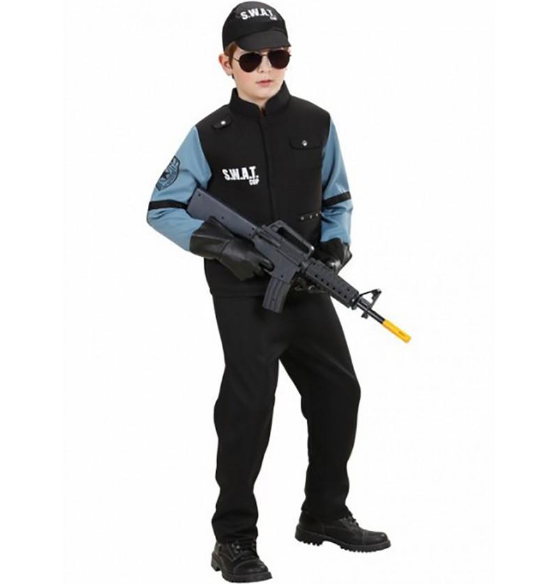 Disfraz de agente de los S.W.A.T. para niño