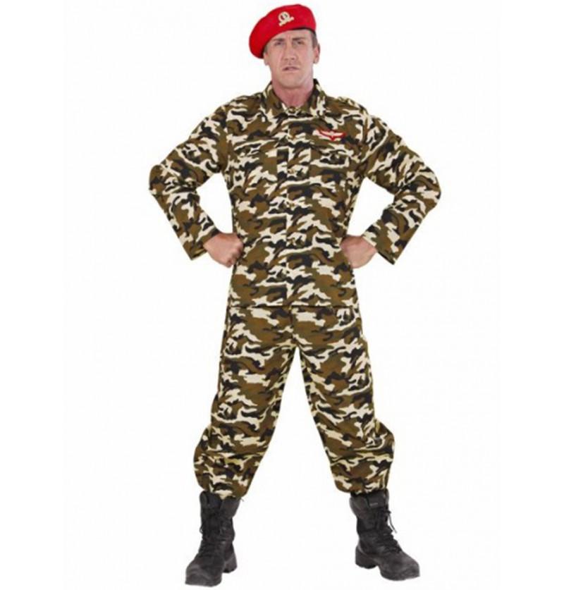 Disfraz de soldado camuflaje para hombre