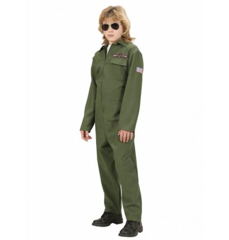 Disfraz de piloto de combate para niño