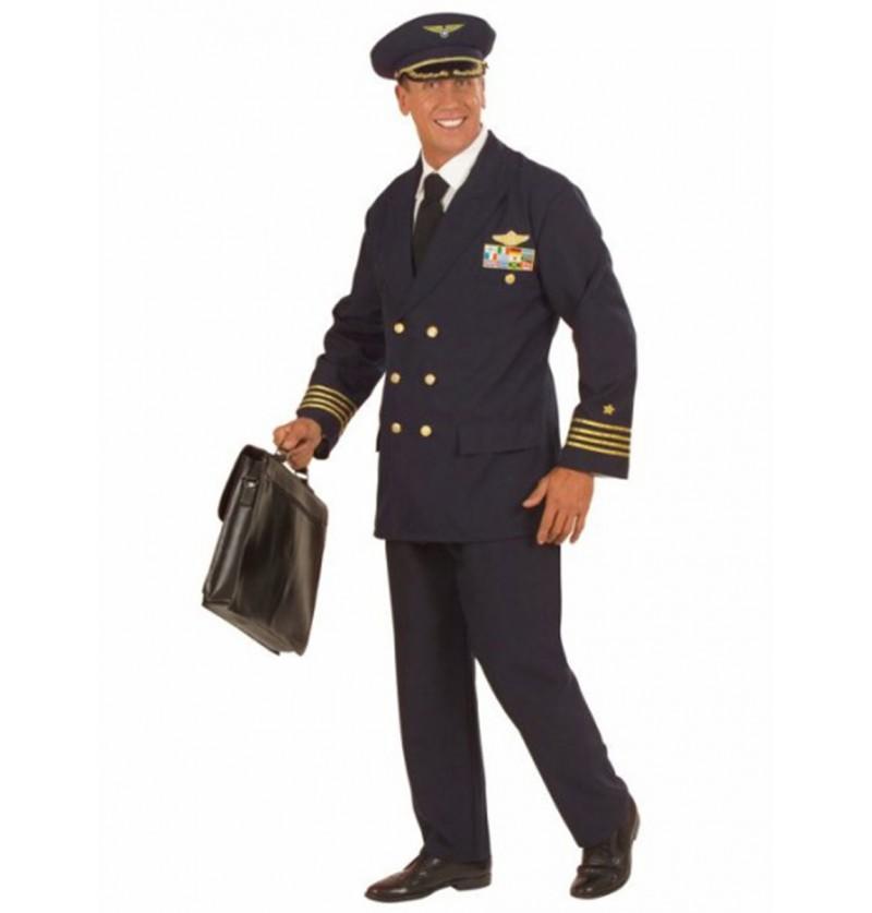 Disfraz de piloto condecorado para hombre