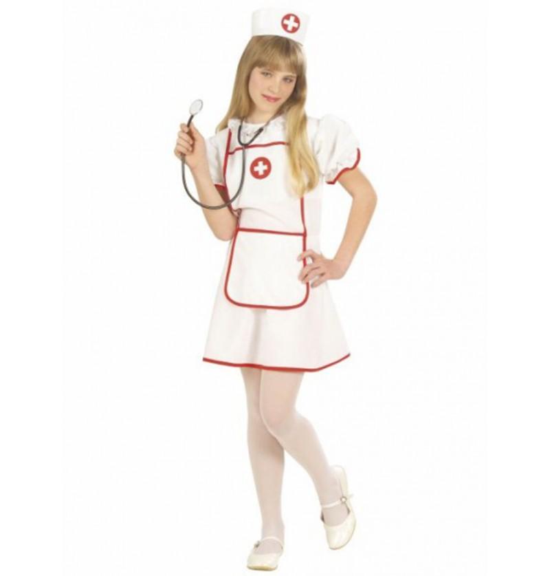 Disfraz de enfermera luminosa para niña