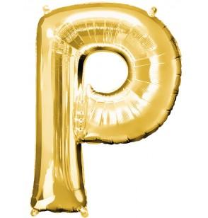 globo letra p dorado