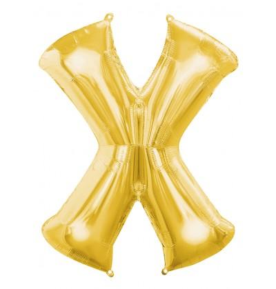 globo letra x dorado