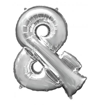globo ampersand plateado