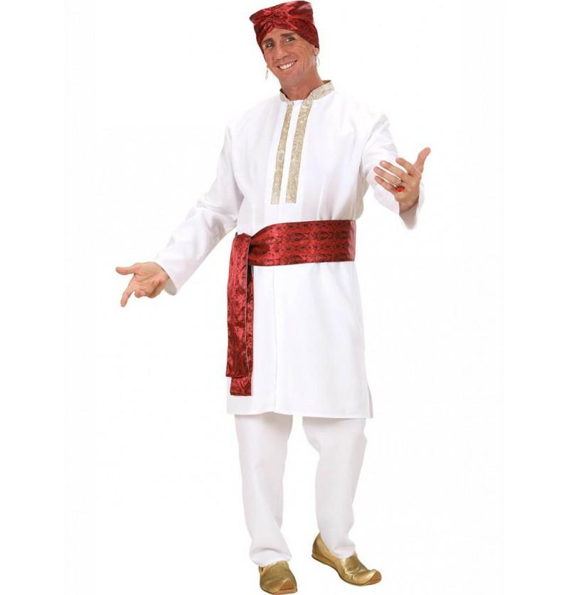 Disfraz de estrella de Bollywood para hombre
