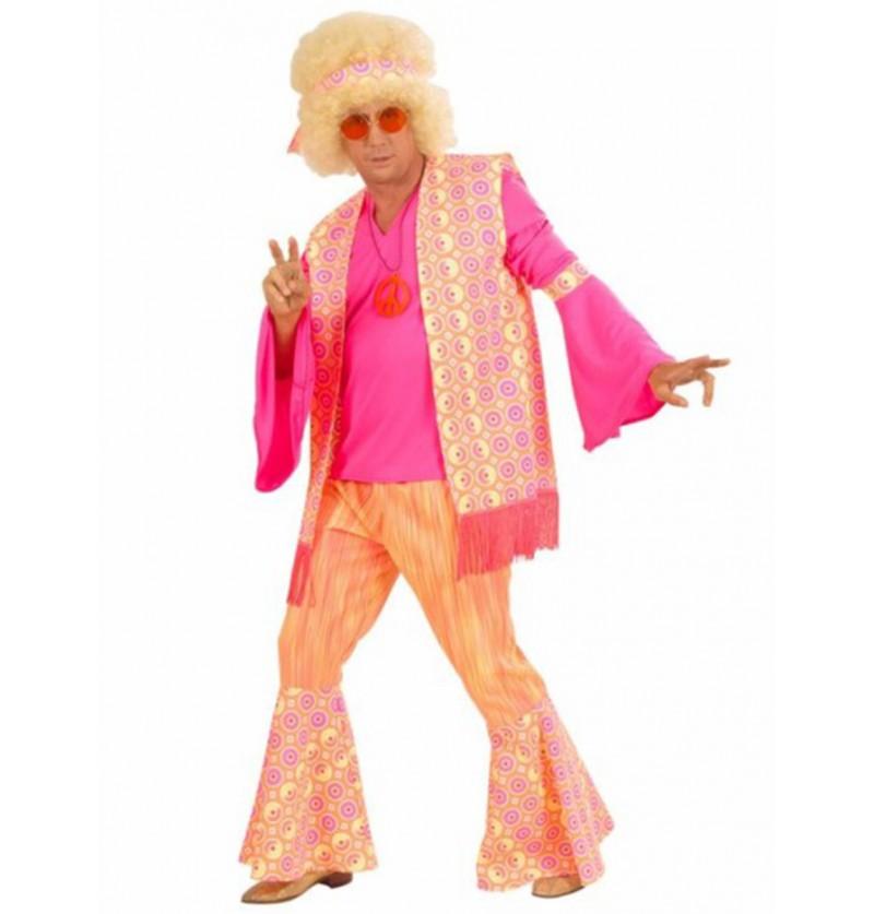 Disfraz de hippie love and fun para hombre