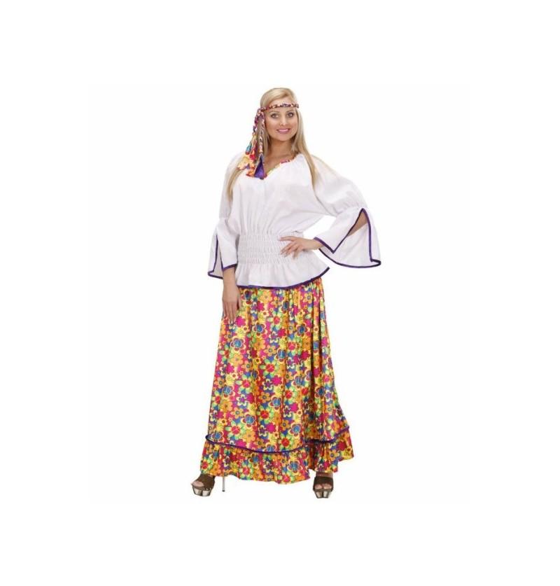 Disfraz de hippie de comuna para mujer