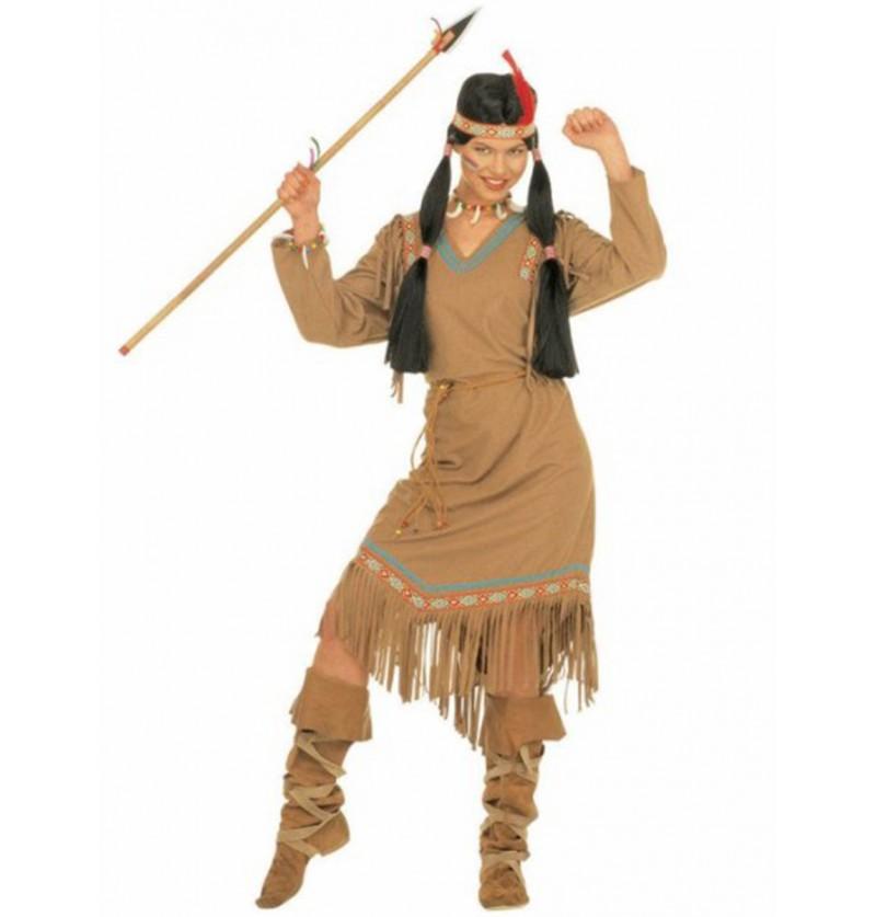 Disfraz de india Pluma Roja para mujer