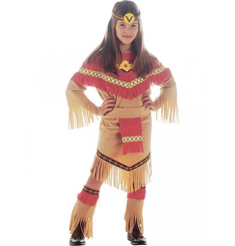Disfraz de princesa india para niña