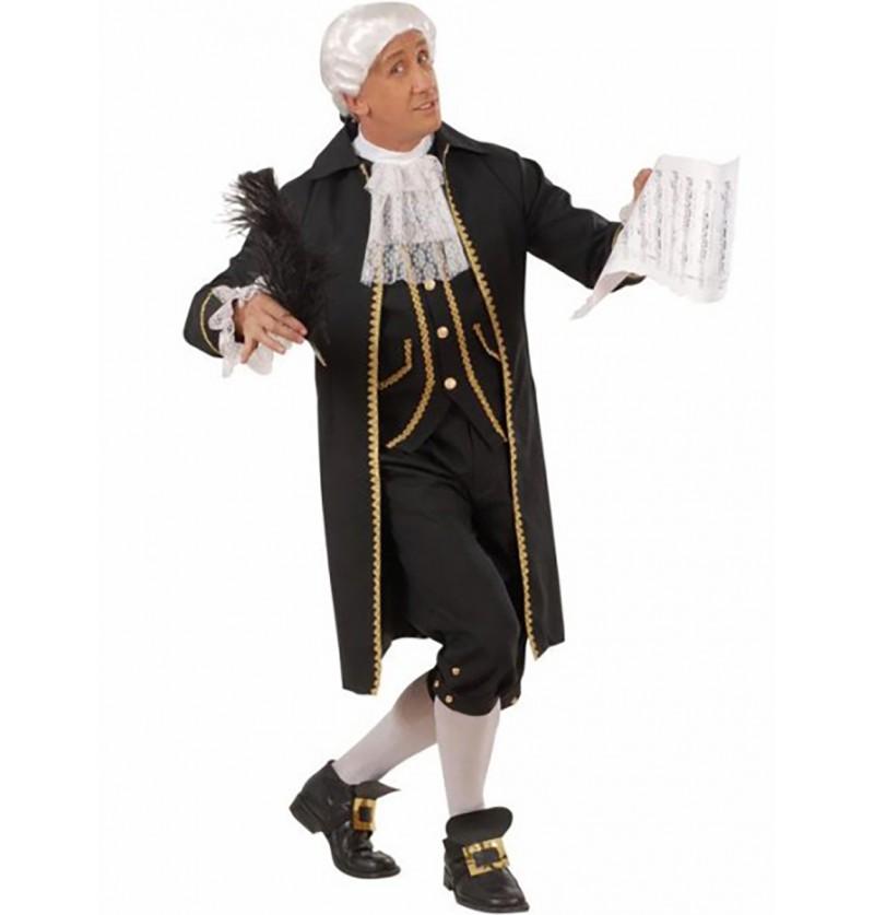 Disfraz de compositor clasicista para hombre