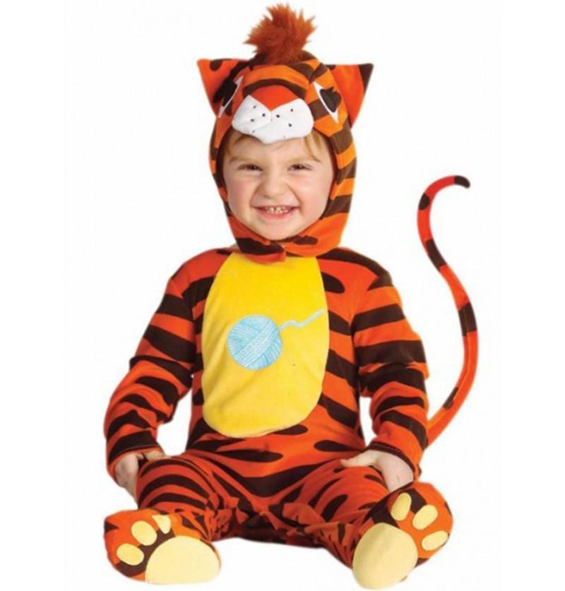Disfraz de tigre naranja para bebé