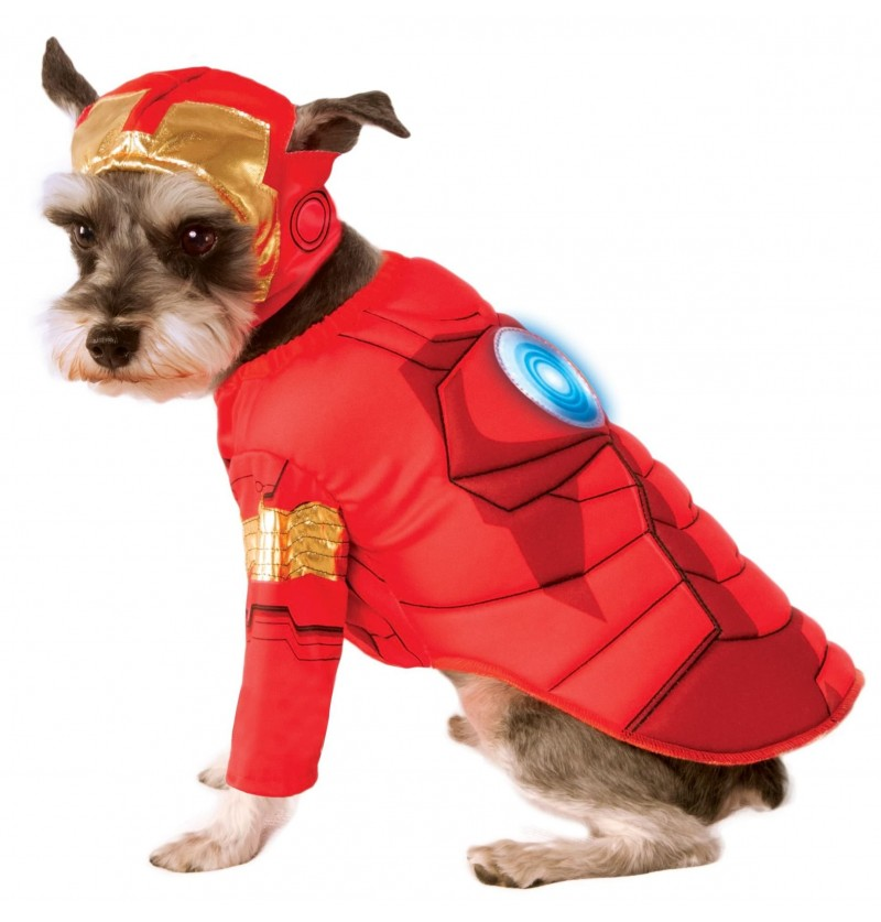 Disfraz de Iron Man para perro