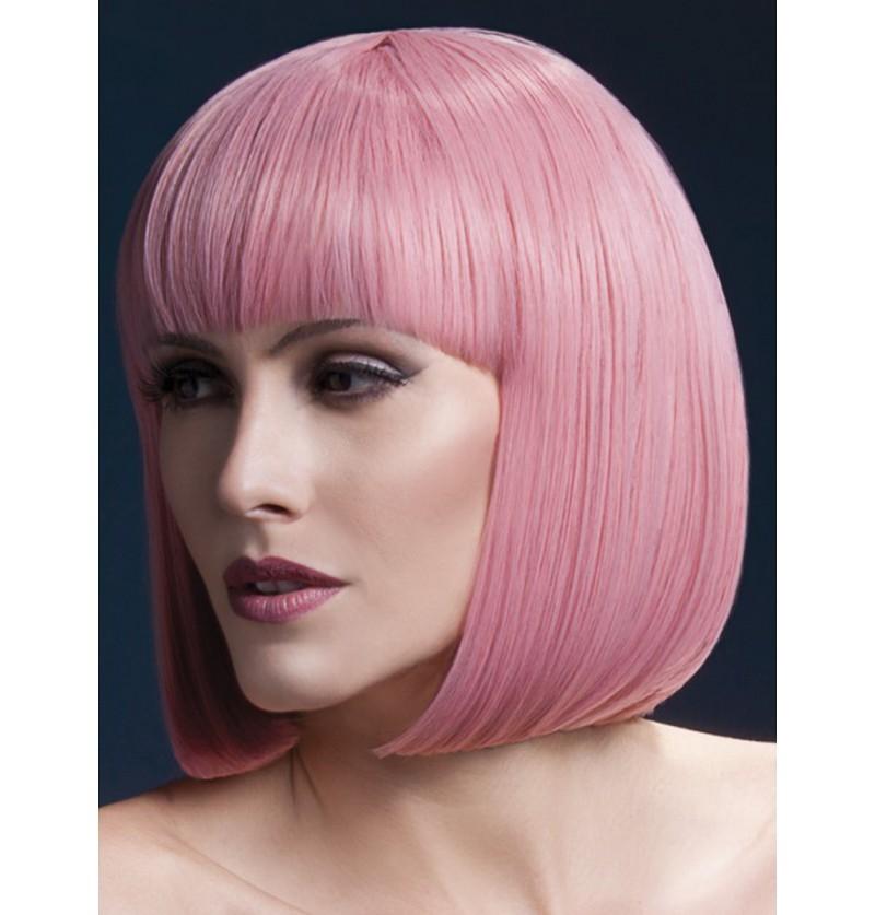 Peluca Elise rosa pastel