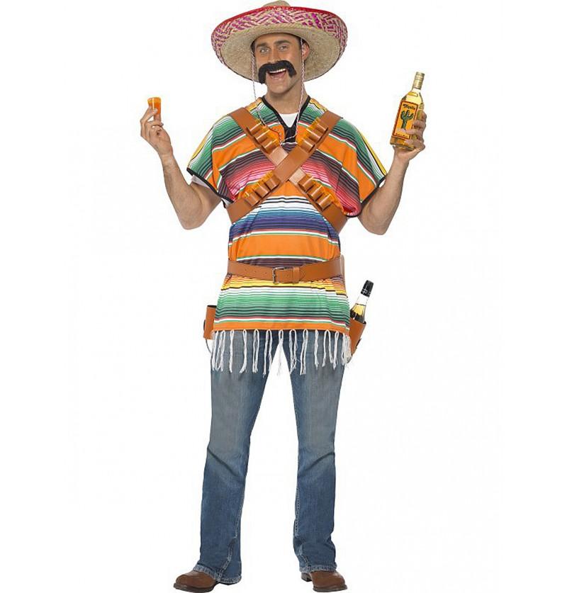 Disfraz chupitero tequilero para hombre