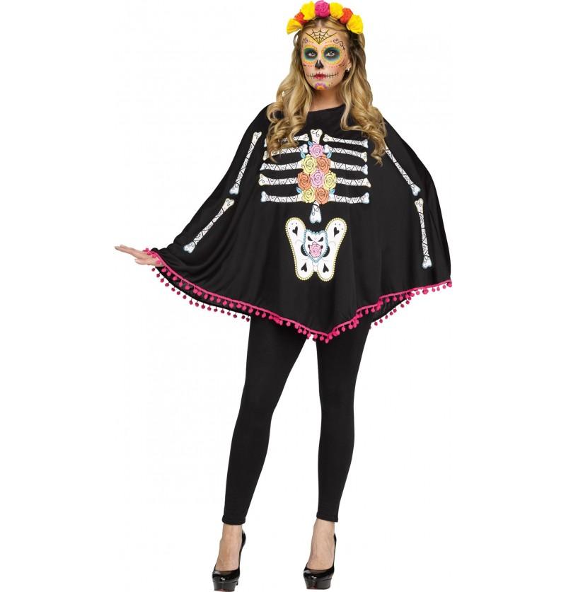 Disfraz de esqueleto del día de los muertos para mujer