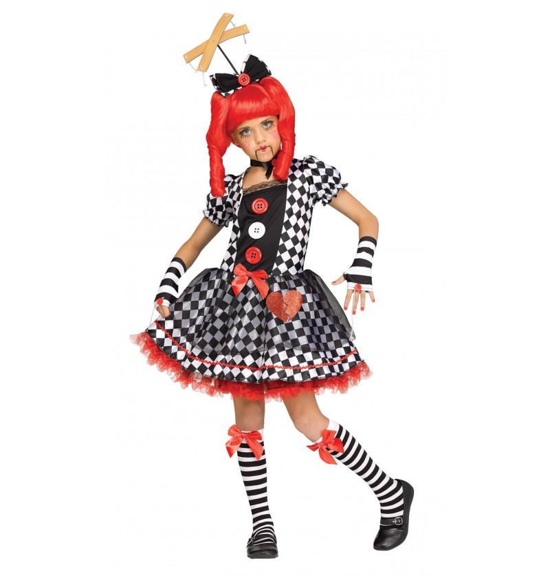 Disfraz de muñeca marioneta para niña