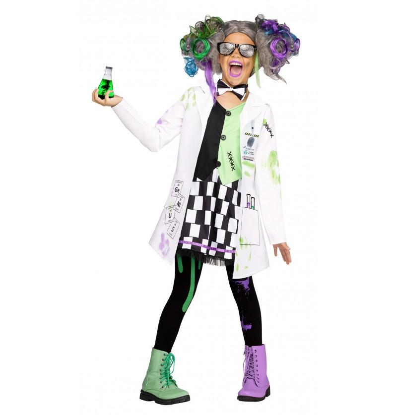 Disfraz de científico loco para niña