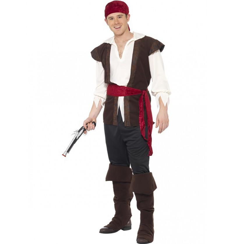 Disfraz de pirata de los mares para hombre
