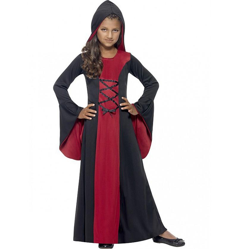 Disfraz de dama vampiresa para niña