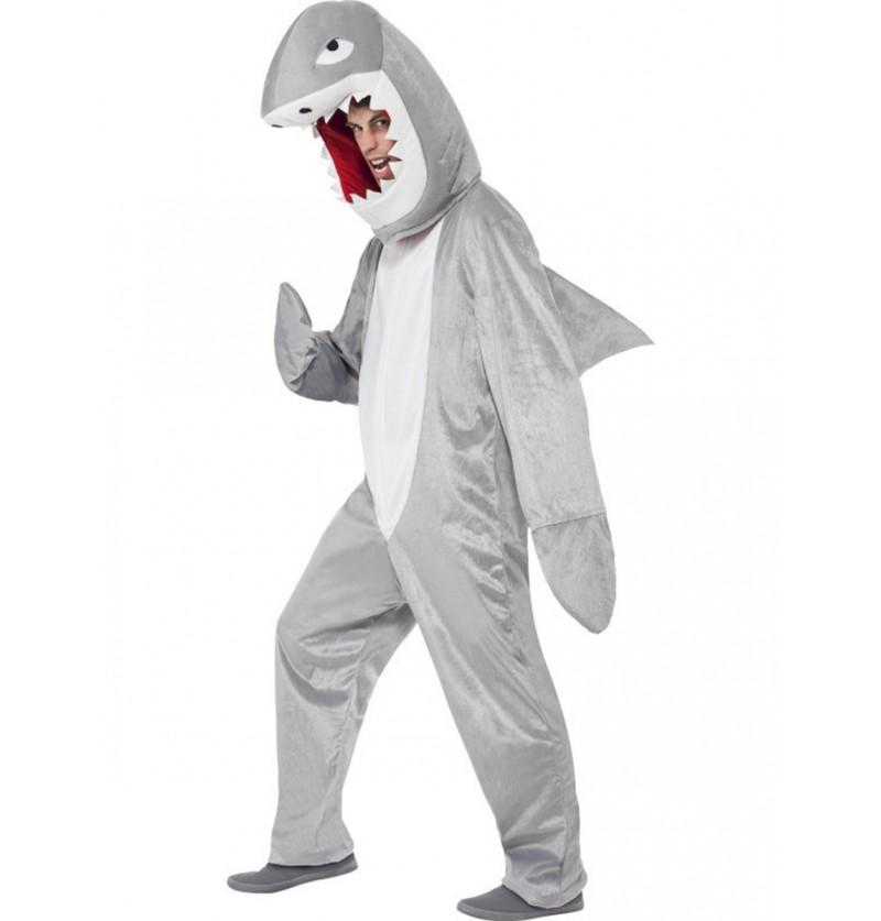 Disfraz de tiburón feroz para adulto