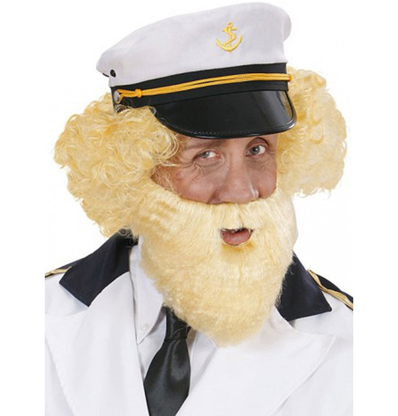 Barba rubia de viejo marinero