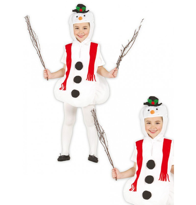 Disfraz de muñeco de nieve feliz