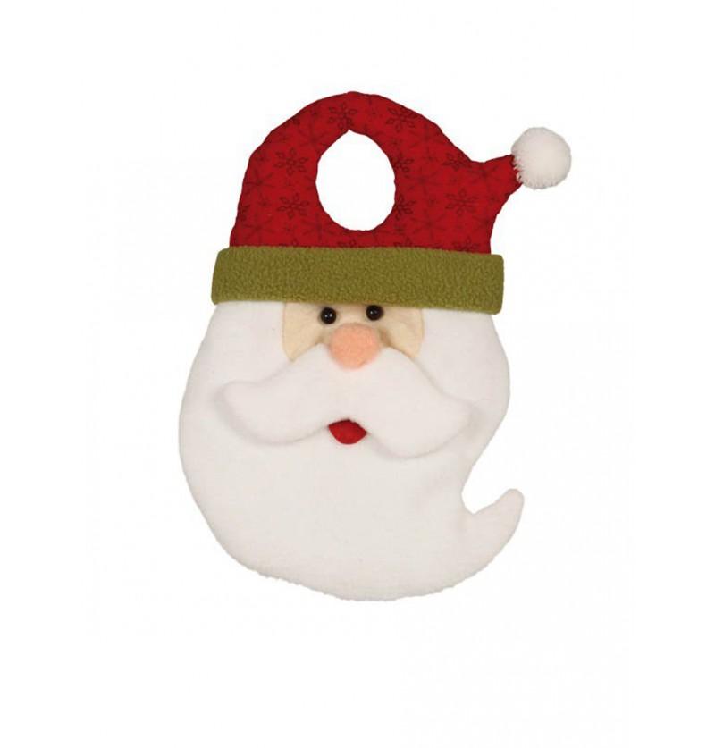 Decoración para pomo de puerta Papá Noel