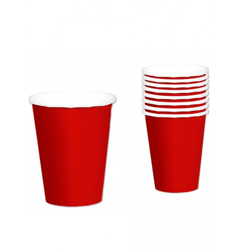 Set de 8 vasos rojos