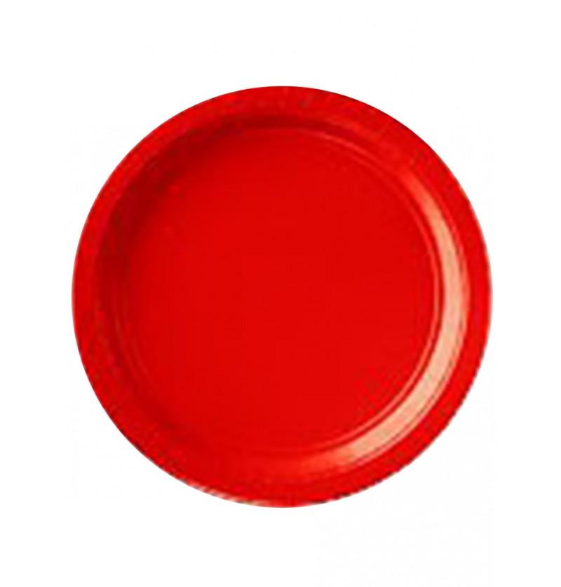 Set de 8 platos pequeños rojos
