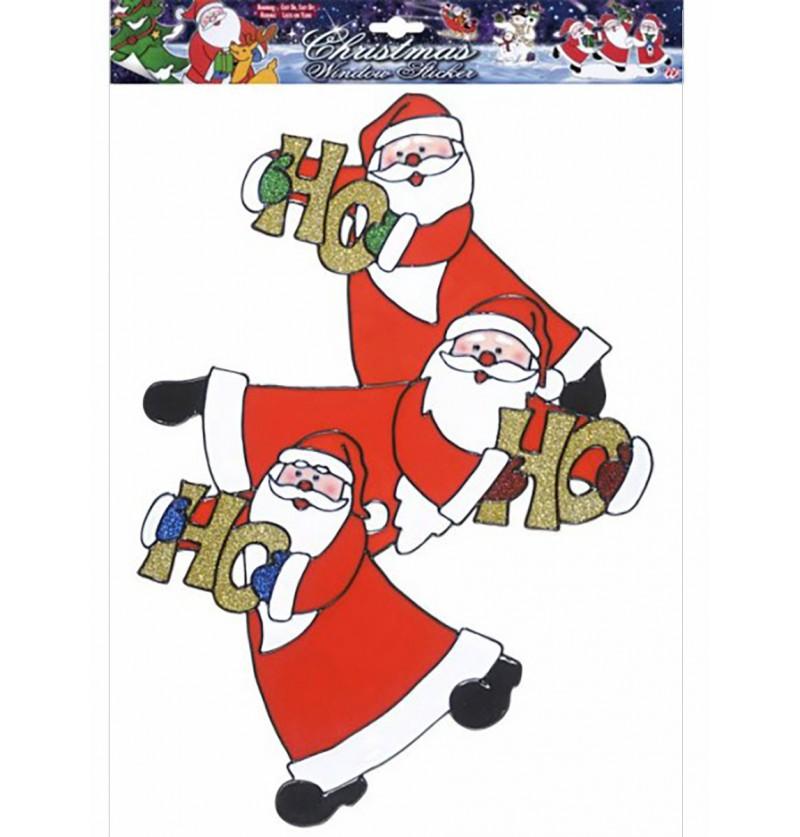 Pegatina para ventana Papá Noel HO HO HO