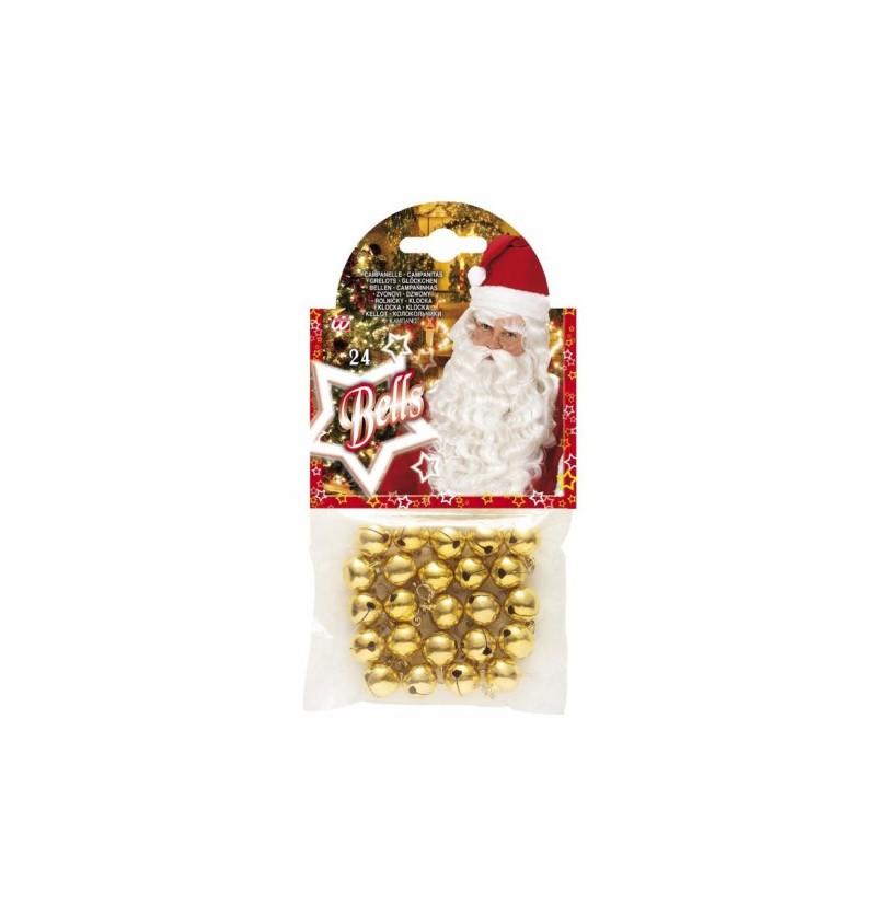 Set de 24 cascabeles navideños