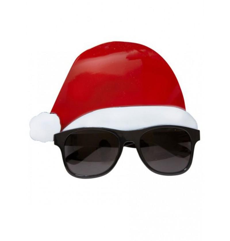Gafas de Papá Noel con gorro