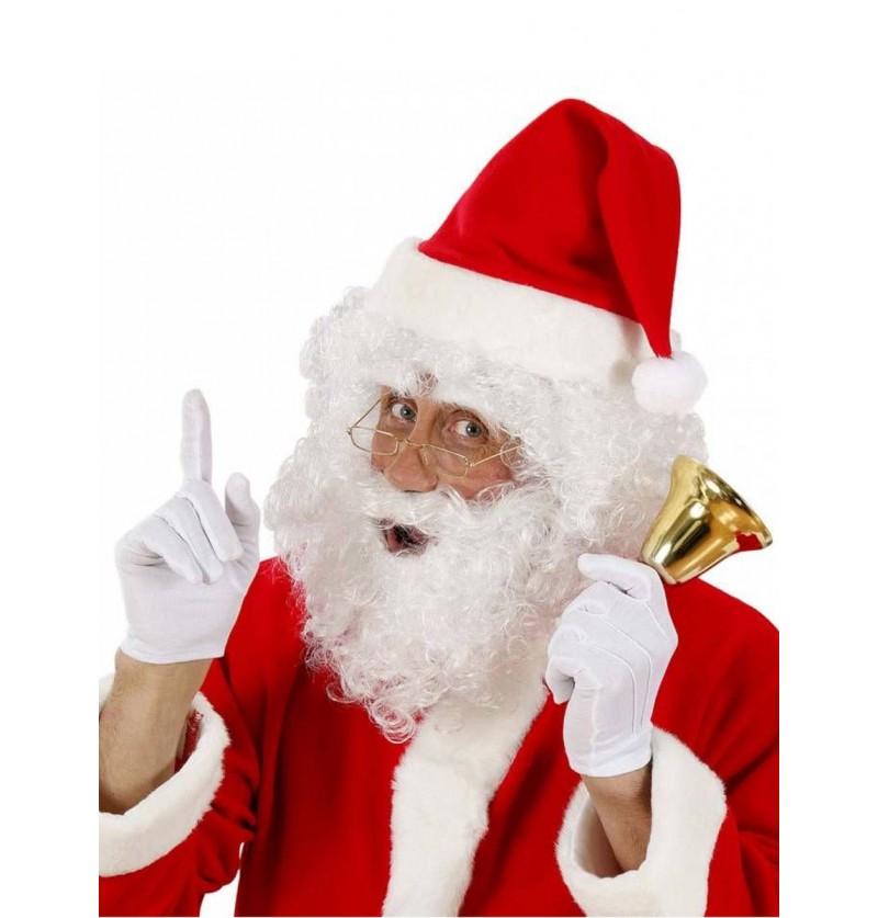 Kit Papá Noel peluca y barba rizada