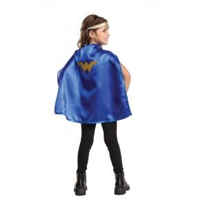 kit de tiara y capa de wonder woman para nia