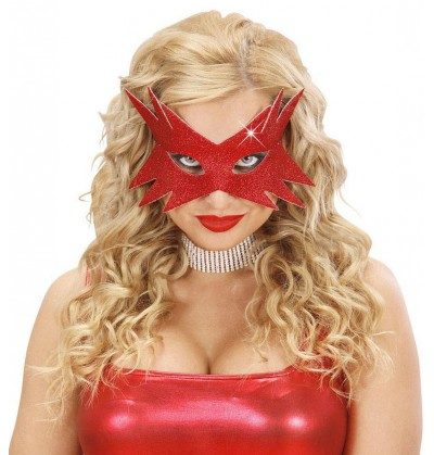 antifaz estrella roja para mujer