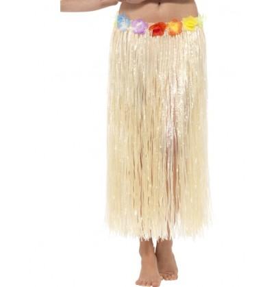 falda hawaiana hula con flores para adulto