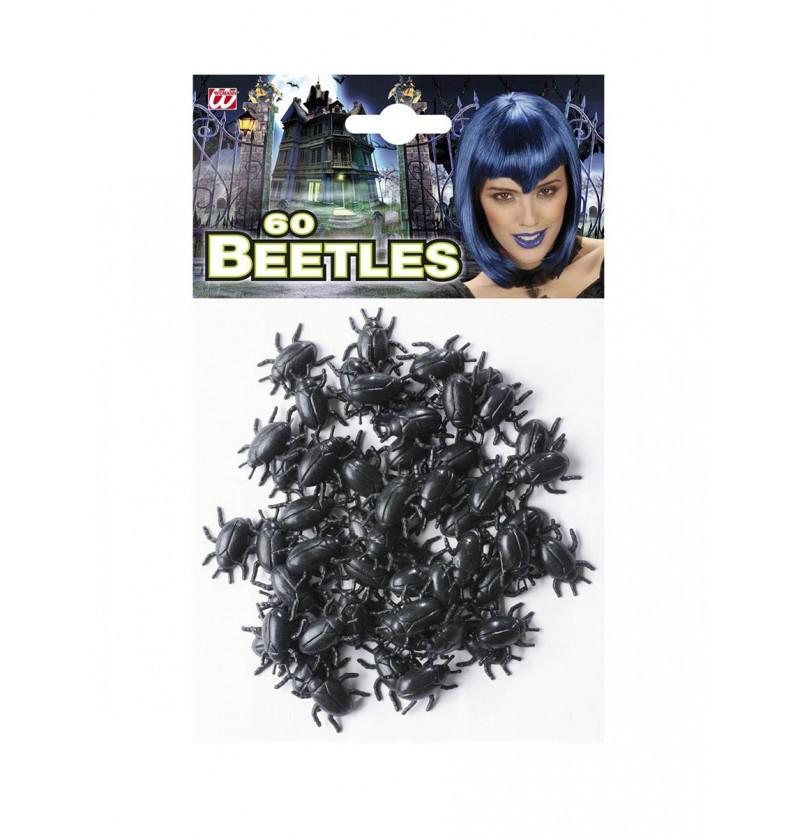 Set de 60 escarabajos negros