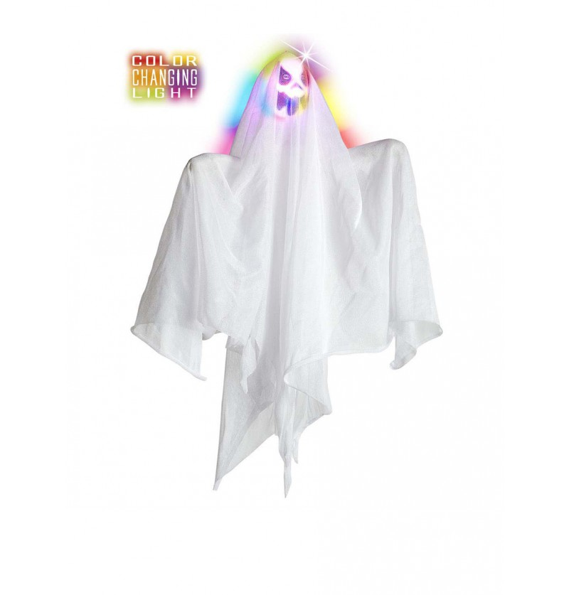 Fantasma con luces de colores cambiantes 50 cm