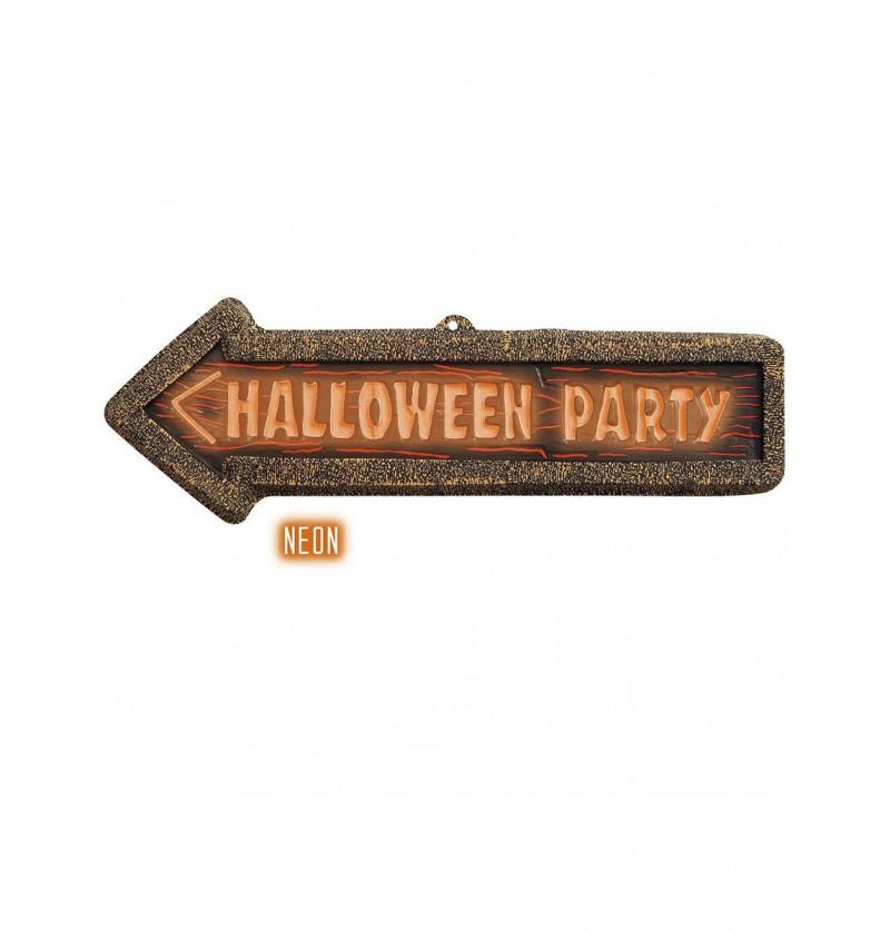 Cartel Halloween Party fluorescente 3D