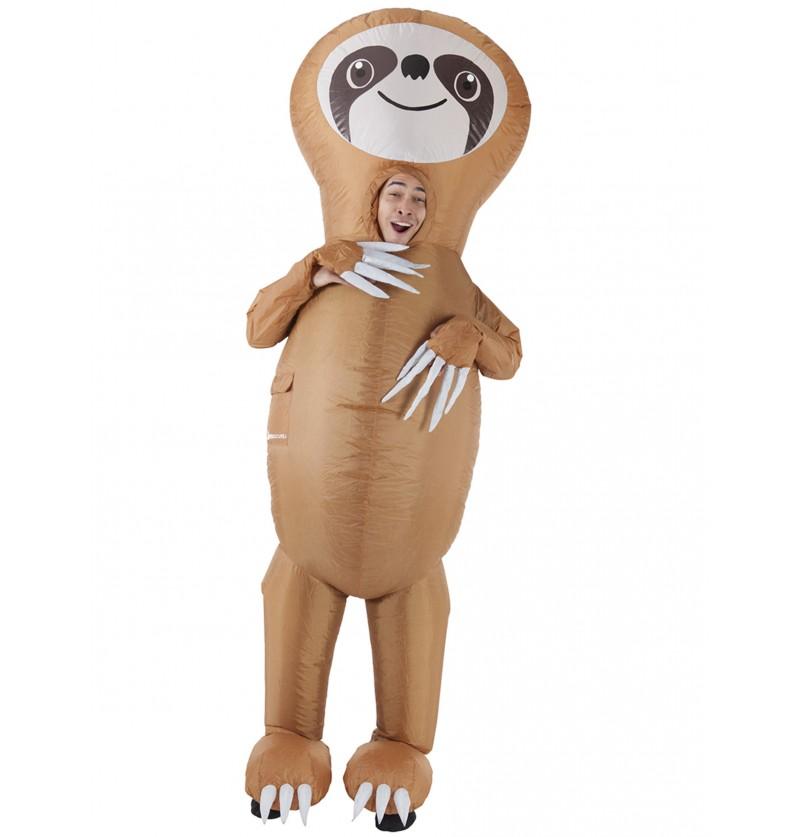 Disfraz de oso perezoso hinchable para adulto