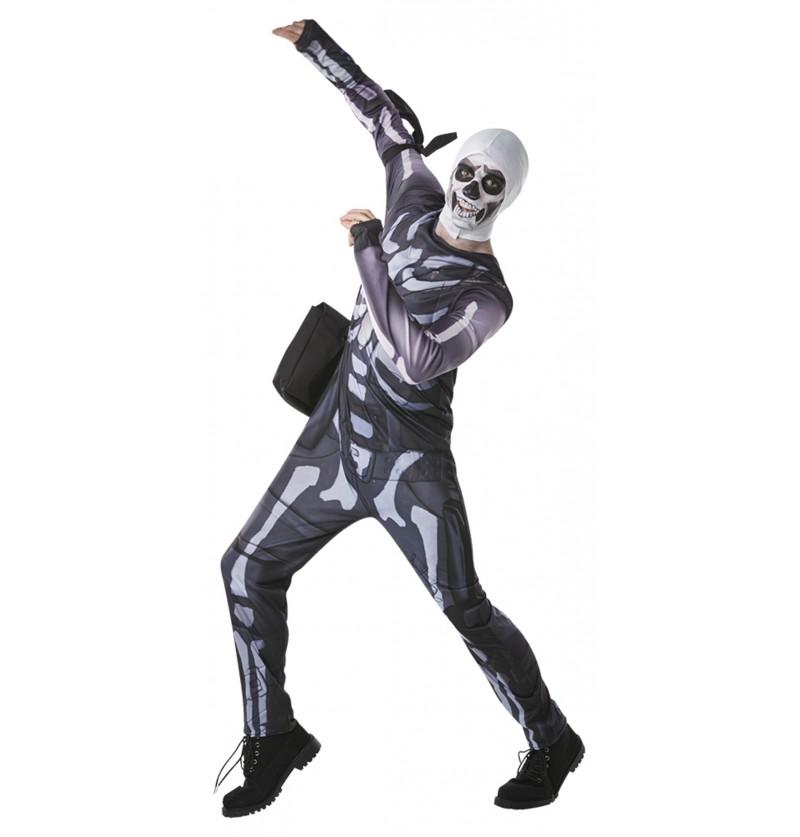 Disfraz de Fortnite Skull Trooper para adolescente