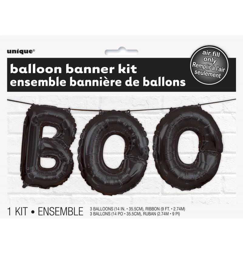 Cartel de globos foil BOO - Basic Halloween