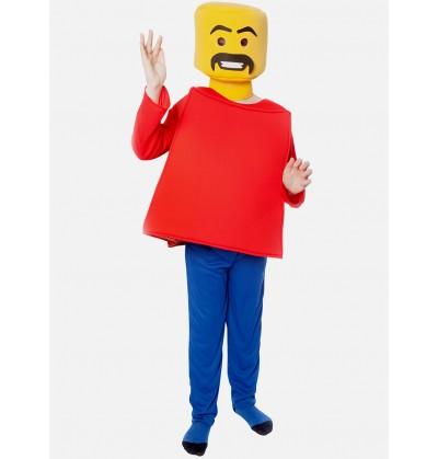 disfraz de cabeza bloque infantil