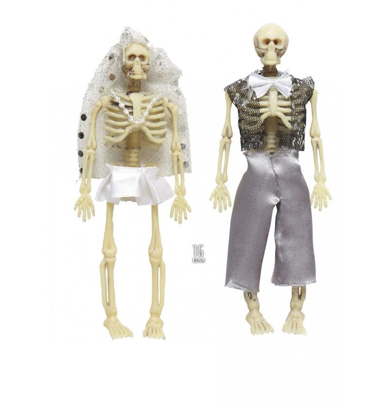 Novios esqueleto decorativos