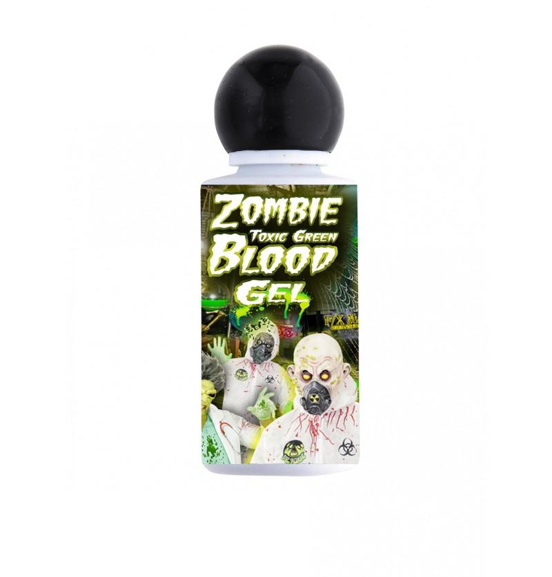 Sangre de zombie verde en gel