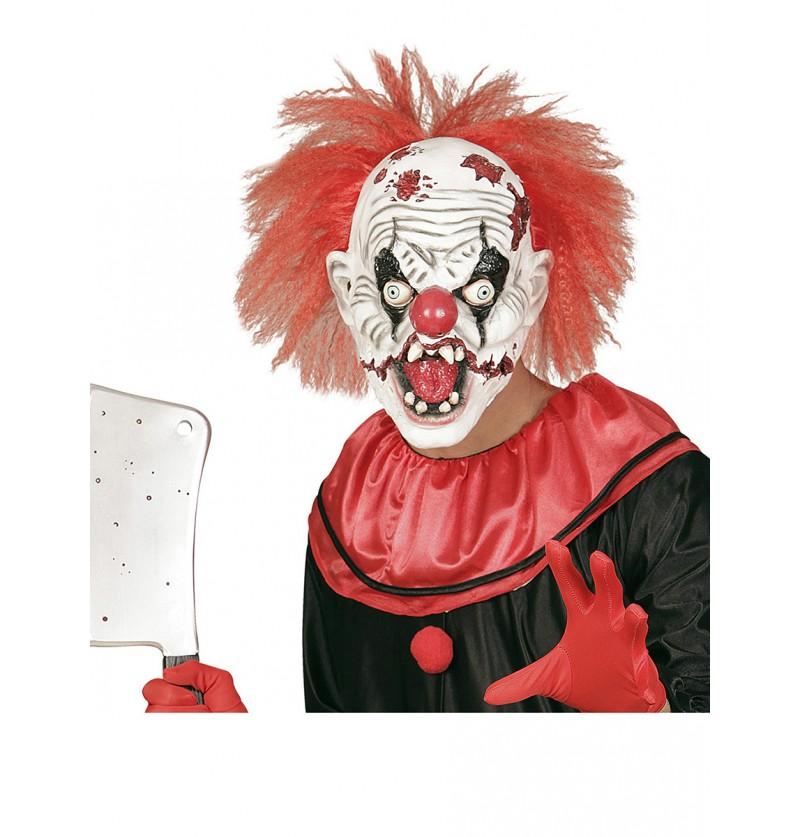 Máscara de payaso loco zombie con pelo 2c2f5c9a4e1f